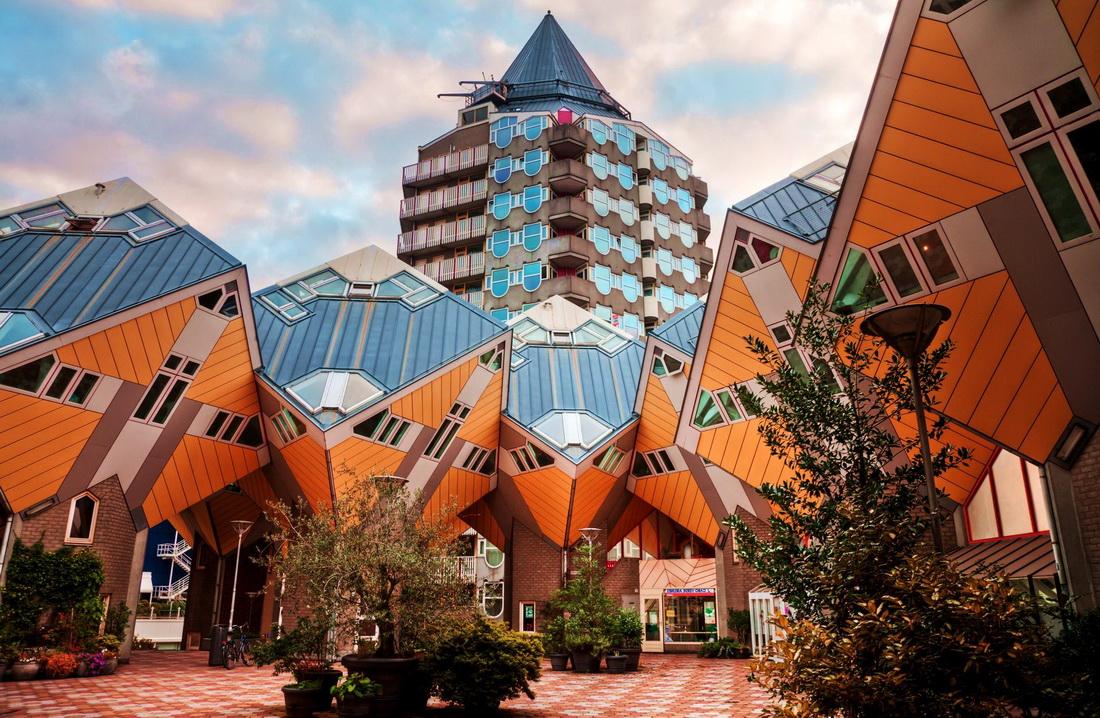 фото кубические дома роттердам, Rotterdam-cub