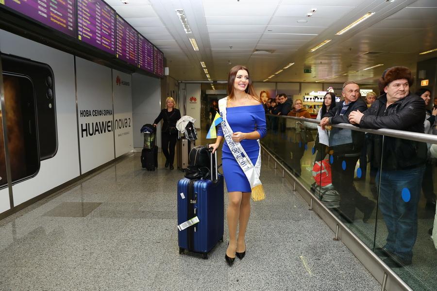 мисс европа наталья варченко в аэропорту борисполь