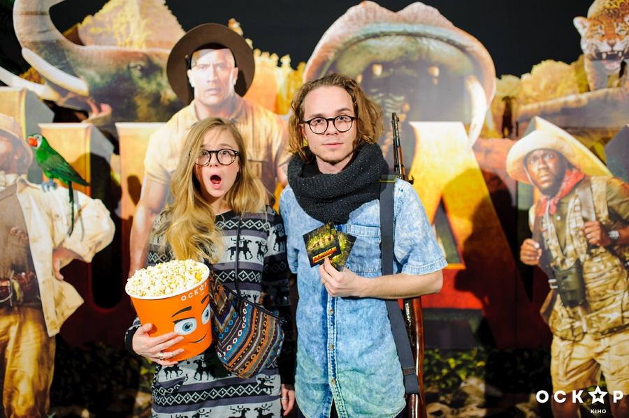 """лавика и вова борисенко на премьере """"джуманджи2: зов джунглей"""""""