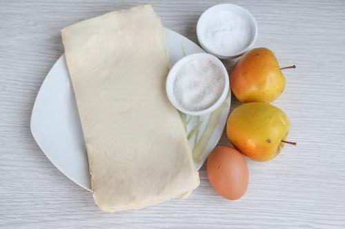 ингредиенты для яблочных слоек фото