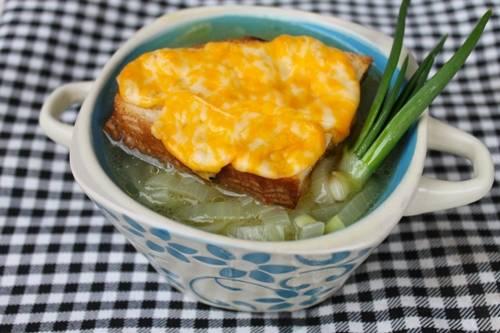готовый луковый суп