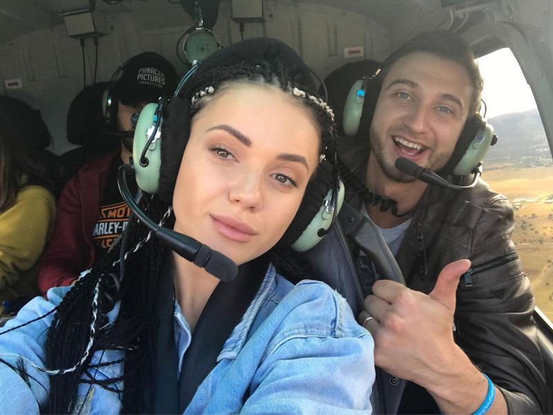 my ree в вертолете фото