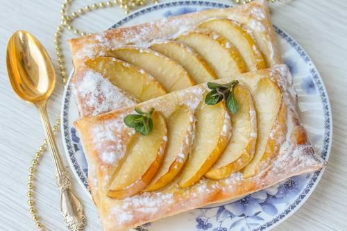 слойка с яблоками фото