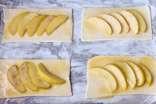заготовки для яблочных слоек фото