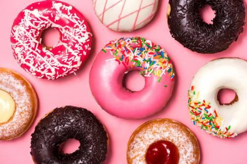 пончики с пищевыми красителями фото
