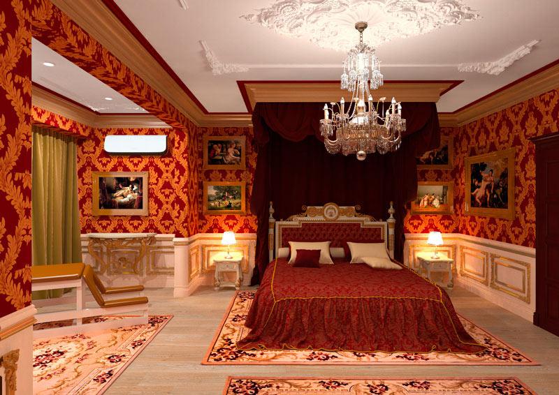 """фото комнаты """"Королевская спальня"""" в отеле """"Cherry Twins"""""""